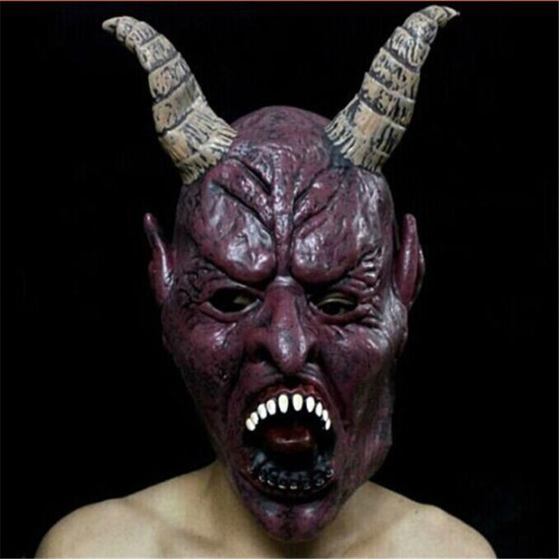 scary unicorn bloody bane face off horror halloween costume masks realistic silicone cattle animal masks carnaval - Halloween Costumes Bane
