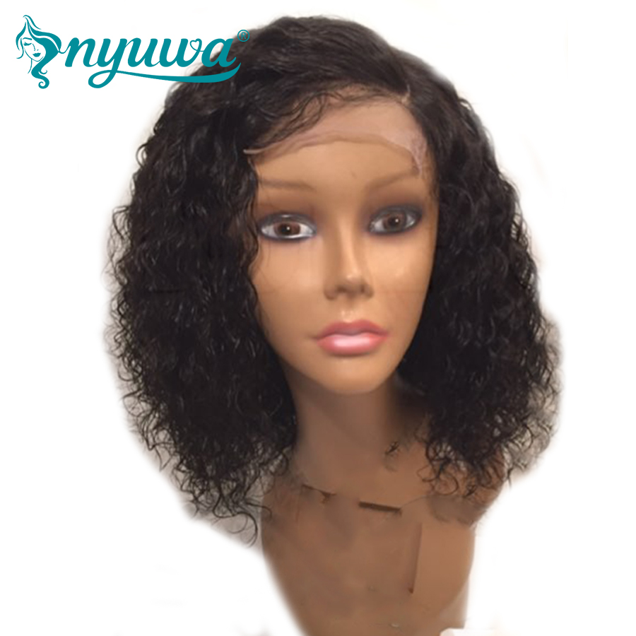 Lace Front Human Hair Wigs For Woman Bleached Knots Pre Plucked Natural Hairline Brazilian Remy Hair Water Wave With Baby Hair