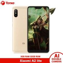 Küresel Sürüm Xiaomi A2 Lite 3 GB RAM 32 GB ROM Smartphone Snapdragon 625 Octa Çekirdek 12MP + 5MP 2 kamera 4000 mAh CE OTA