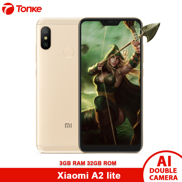 Global Version Xiaomi A2 Lite 3GB RAM 32GB ROM Smartphone Snapdragon 625 Octa Core 12MP+5MP 2 Camera 4000mAh CE OTA
