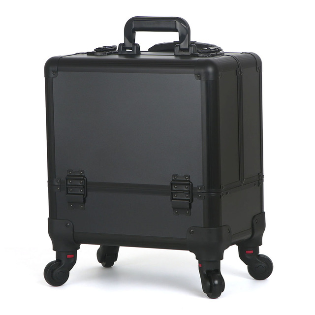 New 2017 Beautician Professional Trolley Cosmetic Case Large Capacity Portable Travel Cosmetic bag makeup suitcase box 40Z