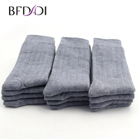 Big Size 42 48 Bamboo Fiber Men Sock High Quality Business Sock Casual Socks 12 Pairs