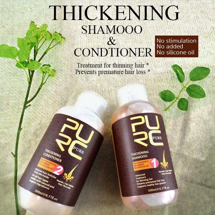 hair shampoo and hair conditioner for grown hair set