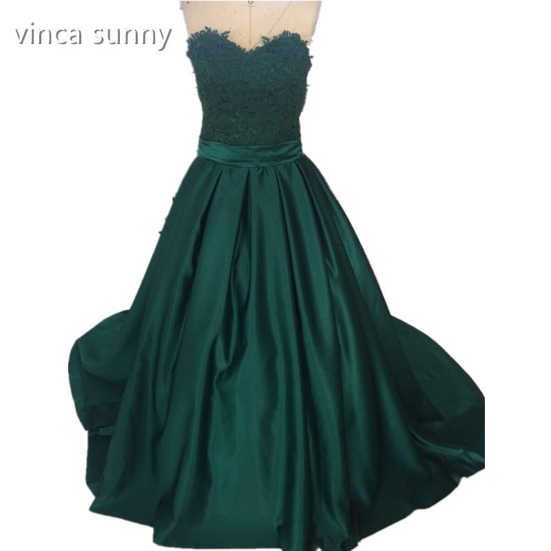 vinca sunny Vestidos De Festa Elegant Prom Dress With satin Sweetheart Off The Shoulder green Prom Dresses 2018 for graduation