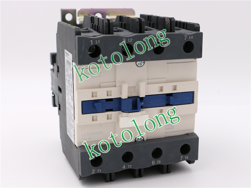 AC Contactor LC1D80004 LC1-D80004 LC1D80004F7 110V LC1D80004FE7 115V LC1D80004G7 120V LC1D80004K7 100V ac contactor lc1d80004 lc1 d80004 lc1d80004w7 lc1 d80004w7 277v lc1d80004v7 lc1 d80004v7 400v