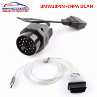 For BMW INPA K CAN OBD2 Interface INPA K DCAN USB Interface For BMW 20pin To