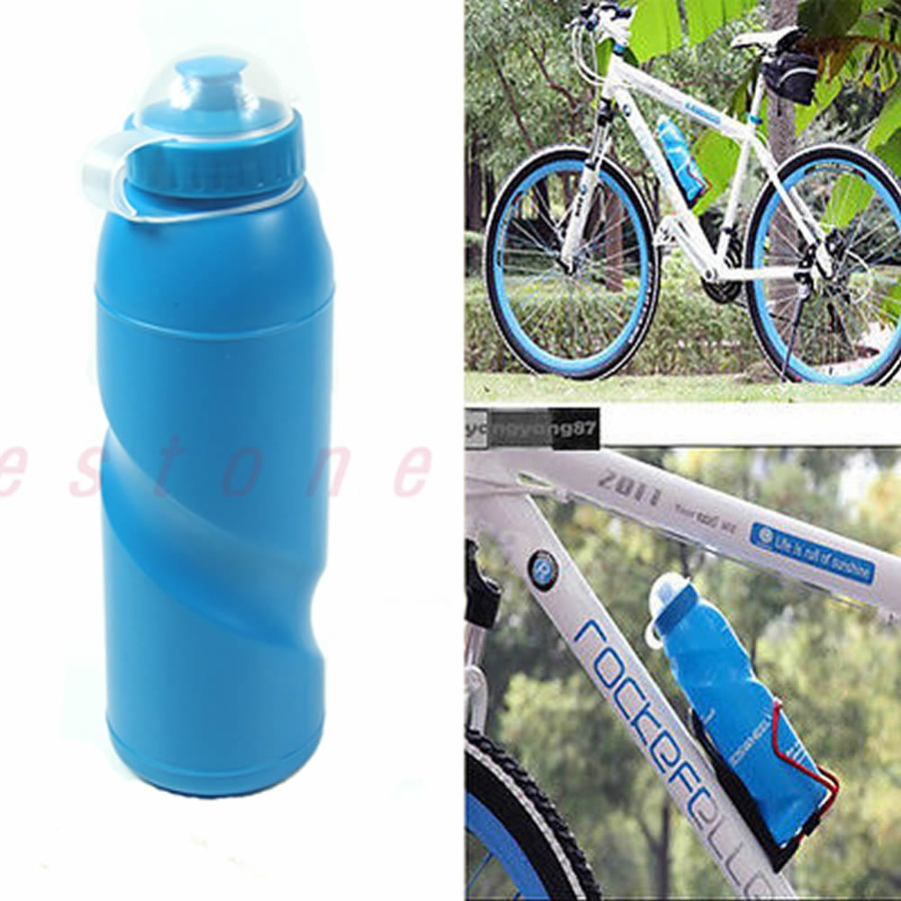 700ml Outdoor Sport Bicycle Bike Plastic Water Drink Bottle Camping Hiking Blue