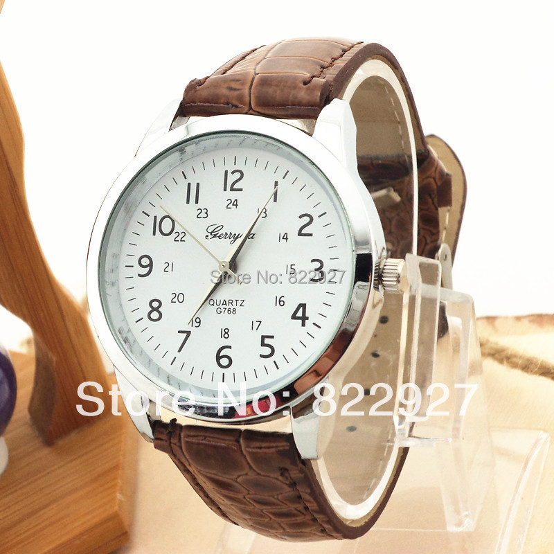 Фото Promotion factory price!Free shipping!PVC leather band,silver plate case,stainless steel back,Fashion unisex quartz watches