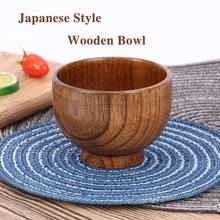 Japanese Style Wooden Bowl Spoon Soup/Salad Rice Bowls Ramen Natural Wood Tableware Adorable