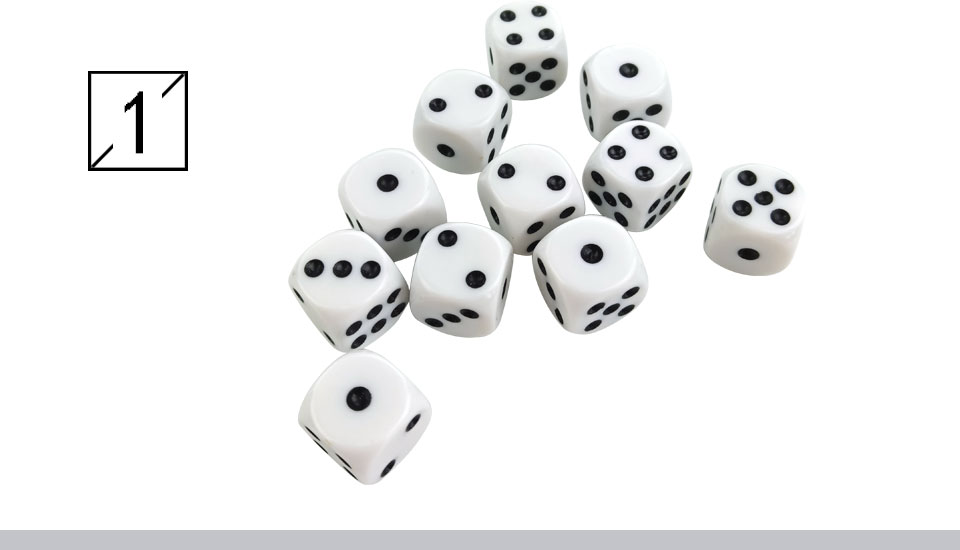 Yernea High-quality 30PcsLot 16mm Dice Set White Black Point Drinking Dice Acrylic White Round Corner D6 Points Dice Club Party (2)