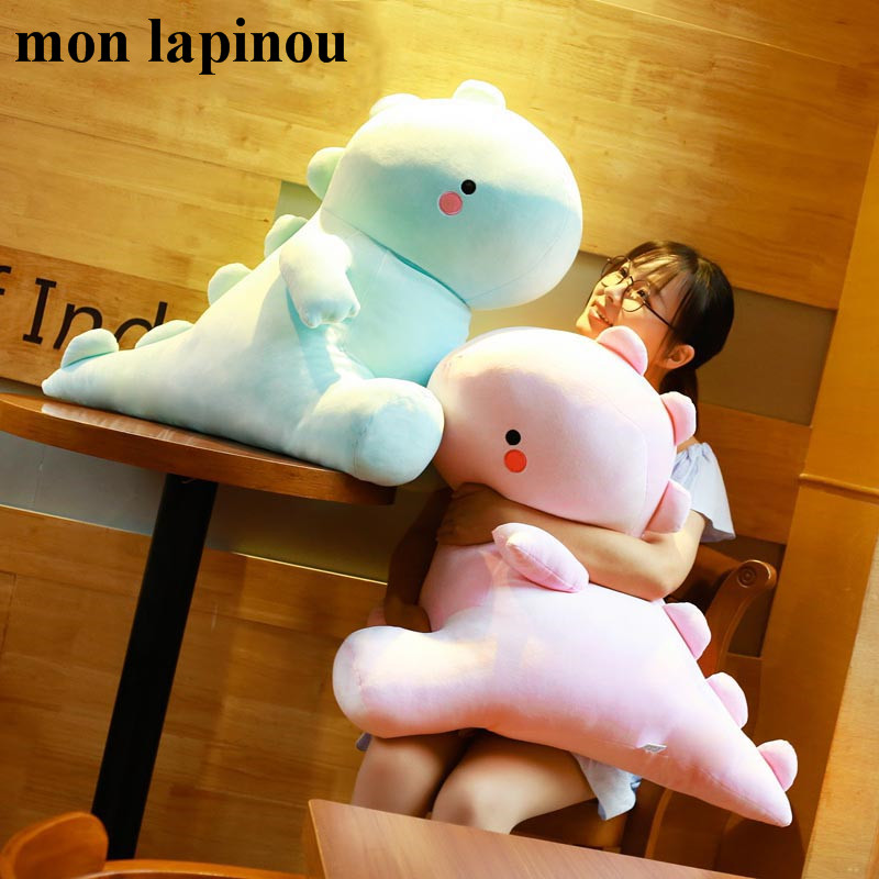 60cm big plush dinosaur toys cute cartoon dinosaur soft pillow huge stuffed animal soft doll pink kids toy gift for girlfriend northern europe style double 3d printing ins doll plush sofa stuffed animal child toys birthday xams gift dash pillow cushion