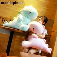 60cm big plush dinosaur toys cute cartoon dinosaur soft pillow huge stuffed animal soft doll pink kids toy gift for girlfriend