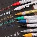 1 piezas metálico marcador 8 colores para elegir 0,7mm Extra punto marcador de pintura no tóxica marcador permanente pluma de arte DIY marcador