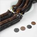 Hot 320PCs 10mm 12mm 14mm Coconut Shell Flat Round Rondelle Spacer DIY Loose Beads For Bracelets Ethnic Jewelry Making Wholesale