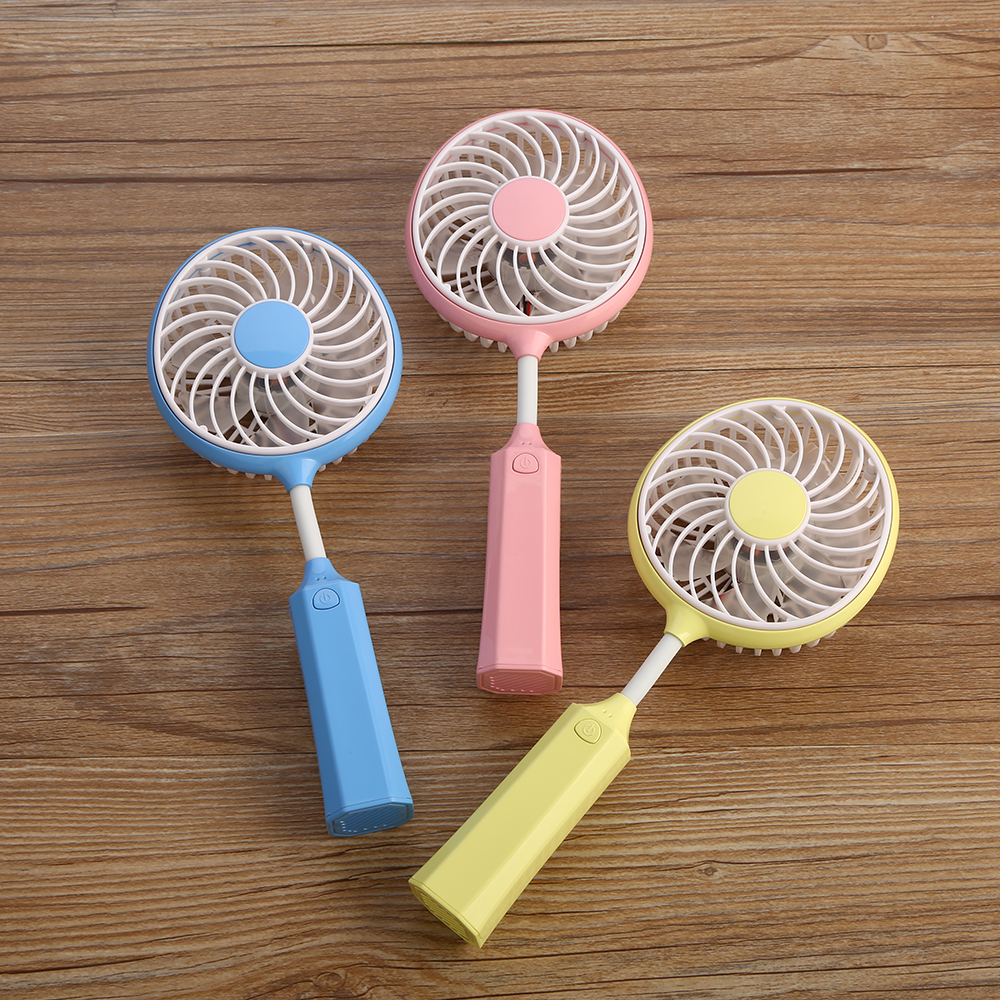 Kind-Hearted New Updated 3 Colors Available Handhold Tennis Racket Fan Desktop Cute Ventilator Dc5v Usb Charge 1200ma Inner Battery Fans
