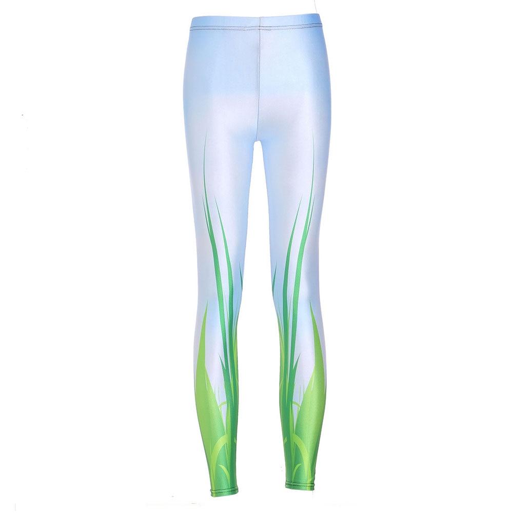 New Fashion   Leggings   Blue Sky And Green Grass Fitness   Legging   Women Digital Print Slim Exercise   Leggings   Sexy Pants