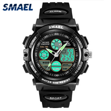 SMAEL Brand Sport Watch for Kids 50M Waterproof Shock Analog LED Digital Wristwa