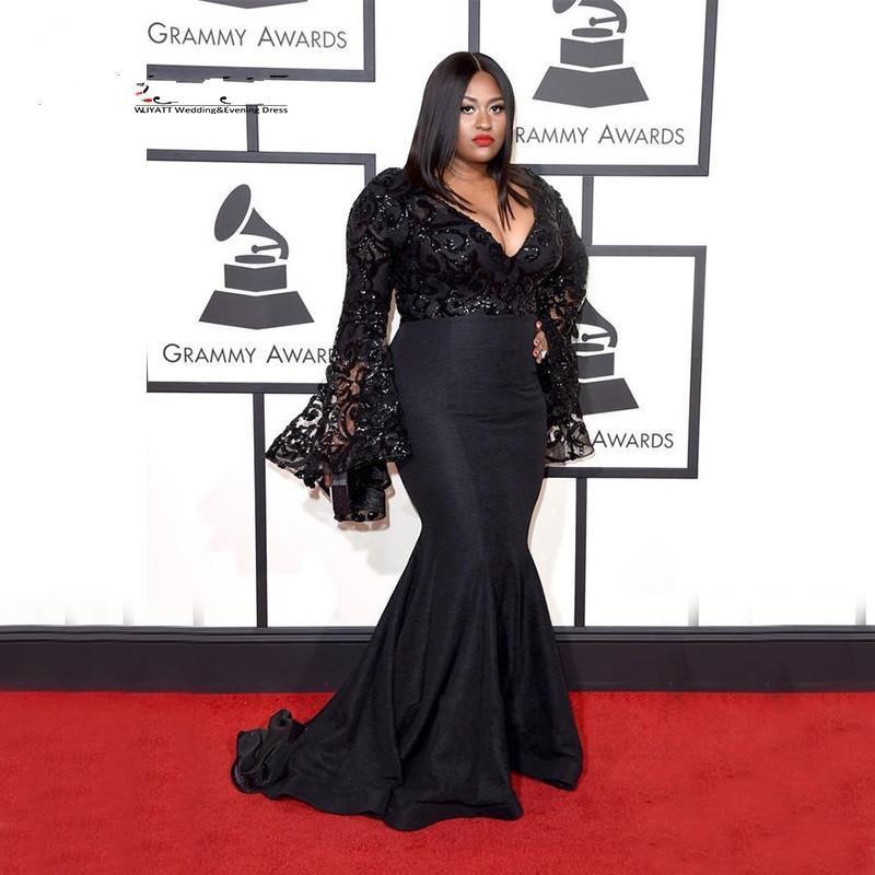 2019 Grammy Awards Plus Size Celebrity Dresses Long