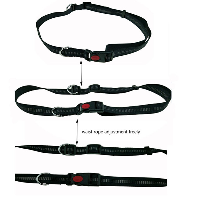 [TAILUP] Dogs Leash Running Elasticity Hand Freely Pet Products Dogs Harness Collar Jogging Lead and Adjustable Waist Rope CL153 4