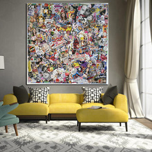 Grosse Grsse Facebook HD Drucken Moderne Leinwand Malerei Poster Gesicht Pop Art Wall Bild Fr Wohnzimmer Sofa Cuadros Dec