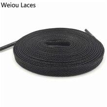 Shoe Laces Waxed 100%Cotton Boots Weiou Flat-Wax Unisex for Dress Widen 8mm-Width Waterproof
