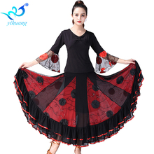 Ballroom Dance Costume Suit Modern Standard Dancewear Set Waltz Performance Outfits Flamenco Dance Costume Long Sleeves Tango #1 let s dance a waltz 1