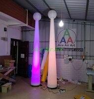 Светодиодное освещение надувные конус дерево для партии украшения, гигантский светодиодный надувной конус дерево