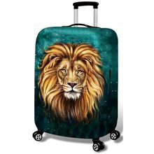 Thickened Luggages Protective Cover for 18-30 Inch Trolley Cases Waterproof Elastic Suitcases Bag Dust Rain Covers lion leopard