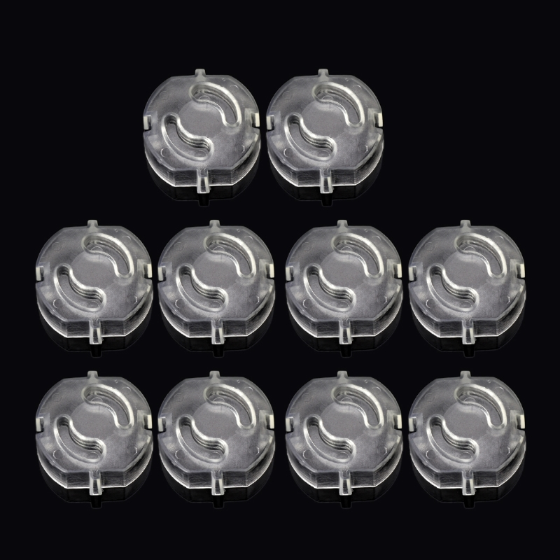 10pcs EU Child Safety Electrical Outlet Cover Plugs For Power Socket Guard Baby Protection Anti Electric Shock Rotate Protector