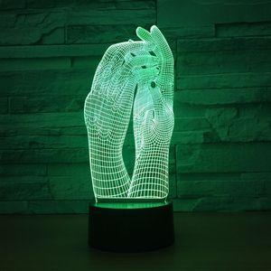 Image 5 - Liebe Zwei Hände Schöne 3D Lampe LED Nacht Licht USB Touch Tisch Lampe Dekoration Party Urlaub Innen Beleuchtung Abbildung Lampe