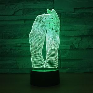 Image 5 - Love Two Hands Beautiful 3D Lamp LED Night Light USB Touch Table Lamp Decoration Party Holiday Indoor Lighting Figure Lamp