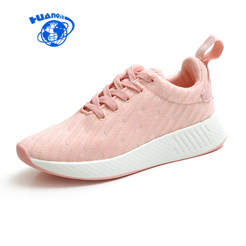 HUANQIU 2017 New Women White Shoes Female Pink Shoes for Spring Autumn Zapatillas Deportivas Mujer Black Flats Chaussure Femme new sexy vs045 1 6 black and white striped sweather stockings shoes clothing set for 12 female bodys dolls