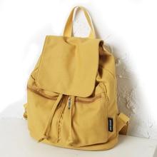 DCIMOR Casual Canvas Shoulder Bag Women Backpack Mochila Escolar School Bags For Teenagers Girls Top-handle Backpacks Book bag