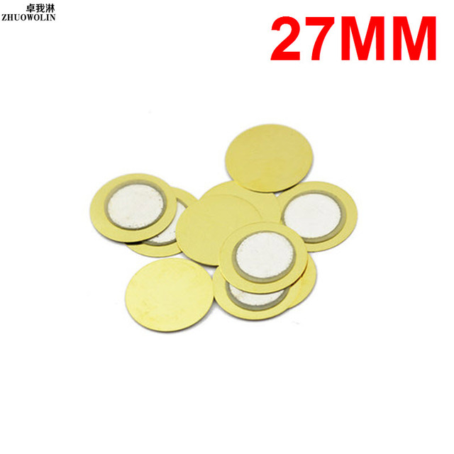 10 Stk/partij 27 MM Piëzo Keramische stukken Copper Buzzer Film Pakking # YXSMDZ2460