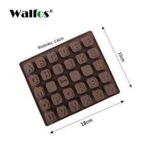 Image 5 - WALFOS 26 אותיות באנגלית 4 לוח שוקולד סיליקון עובש סוכריות קרח קוביית עובש מאפה סבון עובש עוגת פונדנט DIY אפייה כלי