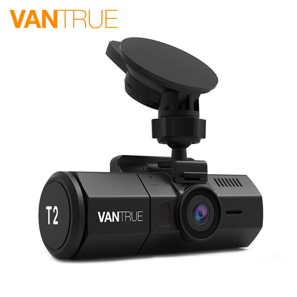 Vantrue T2 Car DVR 24 7 Surveillance Dash Camera Super Capacitor HDR 1080P 2 0 LCD