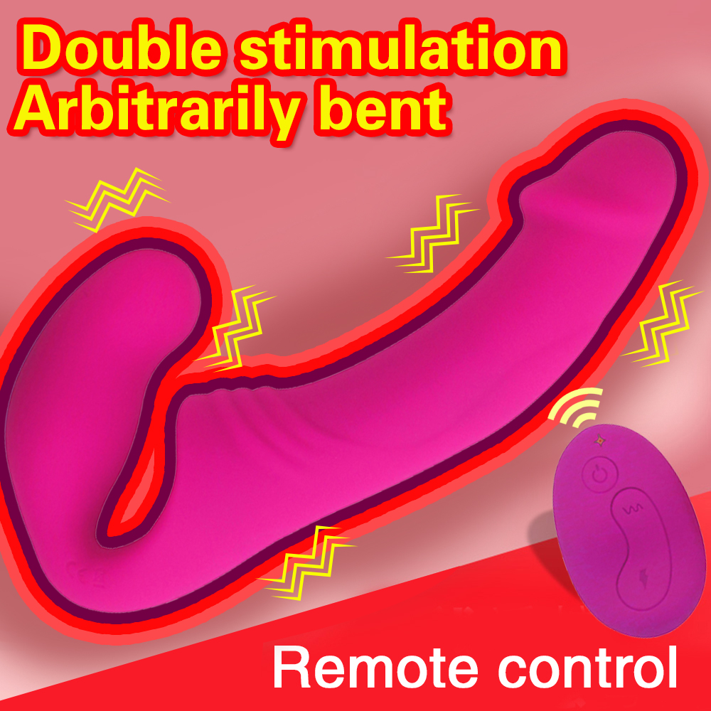 Strapless Strap-on Dildo <font><b>Vibrator</b></font> <font><b>for</b></font> <font><b>Couples</b></font> Strapon <font><b>Double</b></font> Head <font><b>Vibrators</b></font> Wireless Remote G-spot <font><b>Vibrator</b></font> <font><b>Sex</b></font> <font><b>Toys</b></font> <font><b>for</b></font> Women image