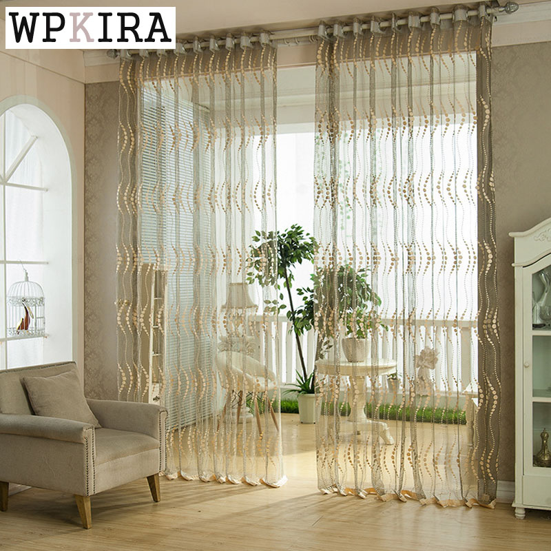 Hot Sale Tulle Sheer Curtains Living Room The Bedroom Kitchen Window  Finished Treatment Curtain Panel Elegant
