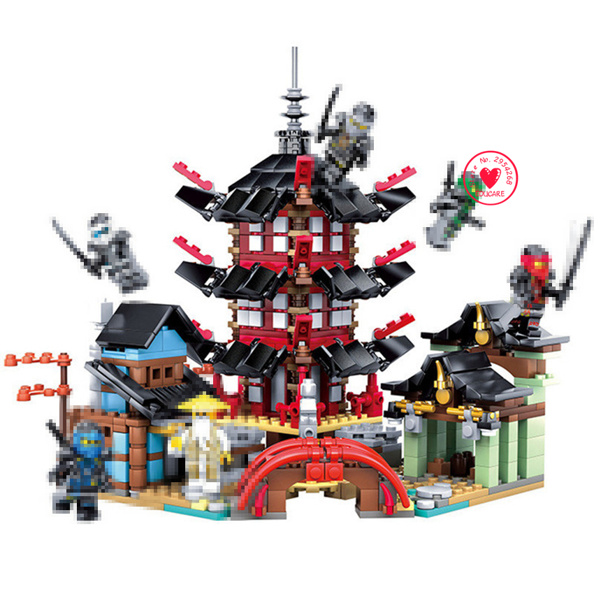 Ninja Temple of Airjitzu lepin Building block Bricks Smaller Version 737 pcs Blocks Set Compatible legoes kid gift Toys for boys fundamentals of physics extended 9th edition international student version with wileyplus set