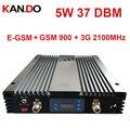 Без интерфера 5 Вт 37DBM 85dbi EGSM GSM 3G трехполосный репитер AGC/MGC EGSM 900 МГц 3g 2100 МГц усилитель сигнала EGSM 3G репитер