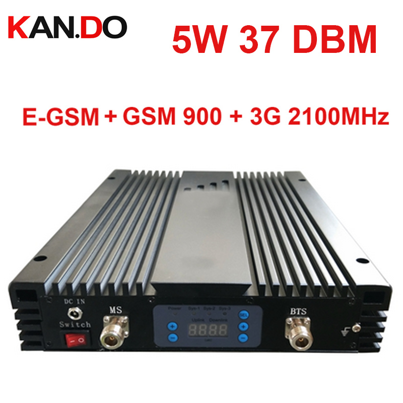 No Interfer 5w 37DBM 85dbi EGSM GSM 3G Tri Band Repeater AGC/MGC EGSM 900MHz 3g 2100MHz Signal Booster EGSM 3G Repeater