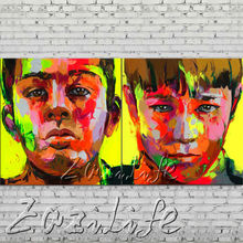 knife portrait Face Oil painting Character figure canva Hand painted Francoise Nielly  Art picture  room85
