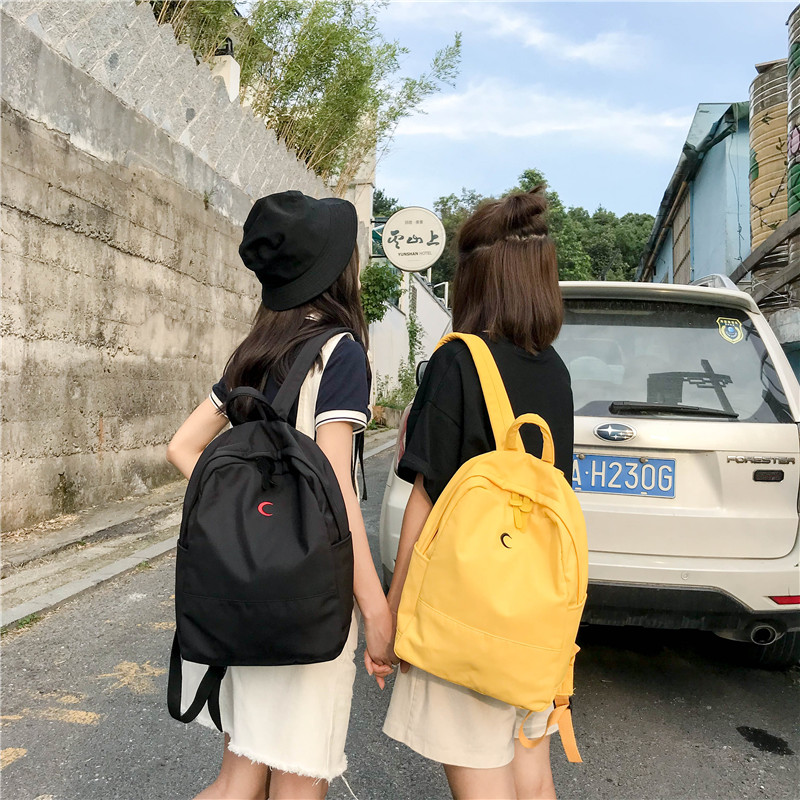 Men's Bags Harajuku Street Fashion School Bag Pack Women Japanese Korean Style Casual Student Backpack Girls Boys Gray Black Pink Knapsack