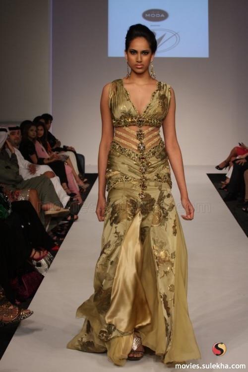 Arlene sain femmes Moyen-Orient Dubaï personnalisé exotique léopard soie Brûlé perlée Lourde sexy gaze de fuite robe 256 - 4