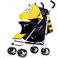Baby Stroller Lightweight Lie Flat Shock Absorber Four Wheels Baby Walker Stroller Umbrella Car Baby Carriage Jogger Stroller