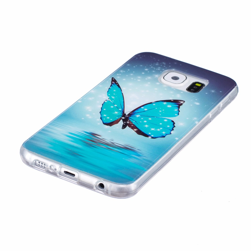 Case sFor coque Samsung S6 Case Galaxy S6 Cover Silicone Case For fundas Samsung Galaxy S6 Edge Case Etui Telefoon Hoesjes in Fitted Cases from Cellphones Telecommunications