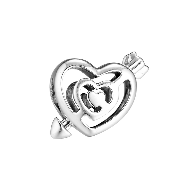 2019 Valentine Day Beads Genuine 925 Sterling Silver Jewelry Path to Love Charm Fashion Jewelry for Women
