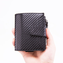 Bisi Goro 2019 Aluminum Card Wallet Credit Holder with RFID Blocking Case for Men And Women PU Leather