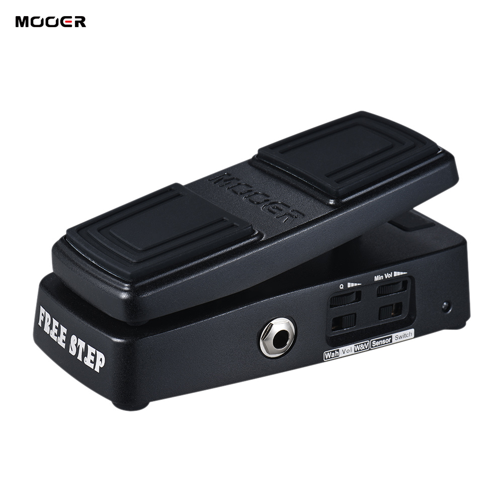 MOOER FREE STEP Wah Volume Guitar Effect Pedal Pressure Sensing Switch True Bypass Full Metal Shell