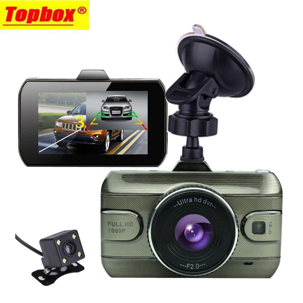 Prix pour 2017 Nouveau 3.0 pouce Double Lentille Voiture Dvr Full HD 1080 P Voiture Dvr Enregistreur Vidéo De Voiture Caméra Dash Cam Soutenir caméra de Vue Arrière Caméra De Recul